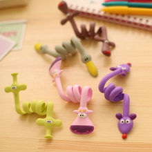 5 pcs Cute Animal Organizer USB Cable Holder Earphone Wrap Wire Winder Cord