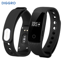 Diggro ID107 Bluetooth 4.0 Smart Band Bracelet Heart Rate Monitor Wristband Activity Fitness Tracker vs miband 2 for IOS Android