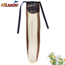 AliLeader Products Natural Black Brown Blonde Clip In Ponytail Ombre 50CM 10Colors Synthetic Long Ponytail Hairpieces Extensions