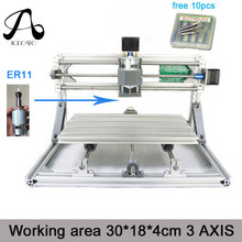 Free Shipping ICROATO Wood Router Engraver 3Axis PCB PVC Milling machine CNC 3018 GRBL control Diy CNC machine+ER11