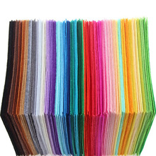 New Arrival 40pcs 15x15cm Non Woven Felt Fabric 1mm Thickness Polyester Cloth Felts DIY Bundle For Sewing Dolls Crafts(China)