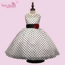 TUTUDRESS Flower Girl Dress Dot Tulle Party Pageant Dress Unique Design Kids Clothing 2017 Summer Princess Dress