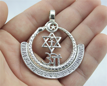 2pcs 57*50mm Antique Silver Color There Is No Religion Higher Than Truth Charms For DIY Handmade Jewelry
