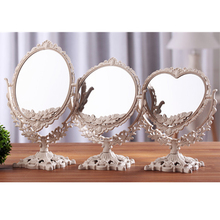 Desk Makeup Mirror Double Facial Beauty Mirror Comestic Tabletop Mirror