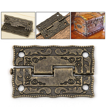 10pcs/set Cabinet Door Butt Hinges Mini Drawer Bronze Decorative Mini Hinges For Cabinet Storage Wooden Box Vintage(China)