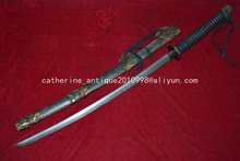 Collectable WWII Japanese Samurai Katana/ DAO/sword,Shark skin sheath,Dragon&Phoneix
