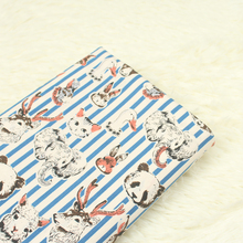 half meter plain pure cotton cartoon cat elephant duck stripe print fabric, handmade DIY patchwork garment dress kids cloth A309(China)