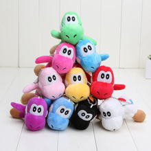10pcs/lot Super Mario Bros Yoshi Dragon Soft Plush Toy Doll 10Colors 10cm(China)