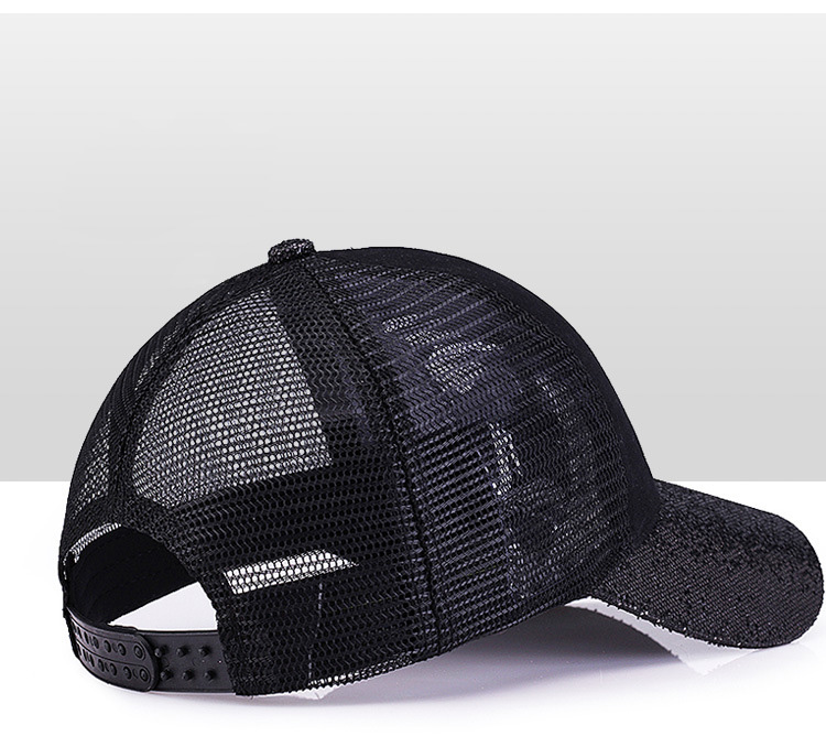[Rancyword] 17 New Branded Baseball Caps Canada Women's Cap With Mesh Bone Hip Hop Lady Embroidery Hats Sequins RC1134 13
