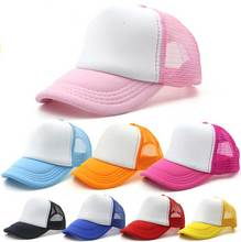 Wholesale 10pcs/Lot Cheap Kids Spring Foam Trukcer Hats Children Summer Two Tone Snapback Hat Boys Sun Visor Cap Girl Mesh Caps(China)