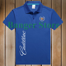 Free Shipping New Brand Summer women and men's Cadillac car logo Polo Shirt Short-sleeved Fashion Casual Shirt