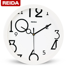 REIDA Brand 8 Inch Children Room Wall Clock Modern Design Fashion Brief Home Decor Clock Super Quiet Quartz Clock for Bedroom