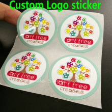Custom Transparent Vinyl PVC Logo Label Sticker Waterproof Businesss Cards Bottle Sticker (Don`t place order before enquiry)
