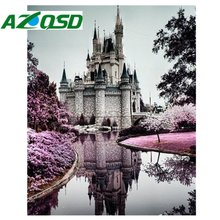 Полный дрель вышивка алмаз 3d алмазный крест стежка мода diamond мозаичные картины из страз и Замок A1165(China)