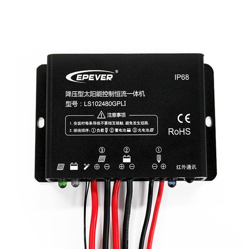 10A 12V 24V EPSOLAR LS102480GPLI  Solar charger controller timer IP67 Waterproof IR mobile APP<br>