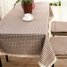 Table Cloth Linen Cover 9 Sizes Coffee Fresh Style Lace Decorative Elegant Restaurant Home Kitchen Dinner Table Cloth