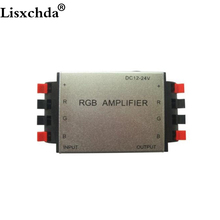 Free shipping High quality DC12-24V 144W 4A/Channel Aluminum RGB LED Amplifier CE RoHS for LED Strip Light 3 channels