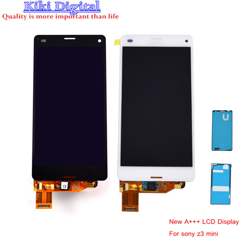 10pcs/lot New A+++ Quality LCD Display + Touch Screen Digitizer Assembly For sony Xperia Z3 mini D5803 D5833 with Adhesive DHL<br><br>Aliexpress