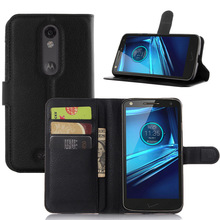 SZYHOME Phone Cases For Motorola MOTO Droid Turbo 2 / XT1585 Luxury Retro Leather Wallet Flip Cover Solid Color Shell Capa Coque(China)