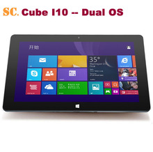 "10.6"" 1366*768 Cube I10 Dual Boot Tablet PC Windows10 Win10+Android 4.4 Dual OS Intel Z3735F Quad Core 2G RAM 32G ROM Mini HDMI"