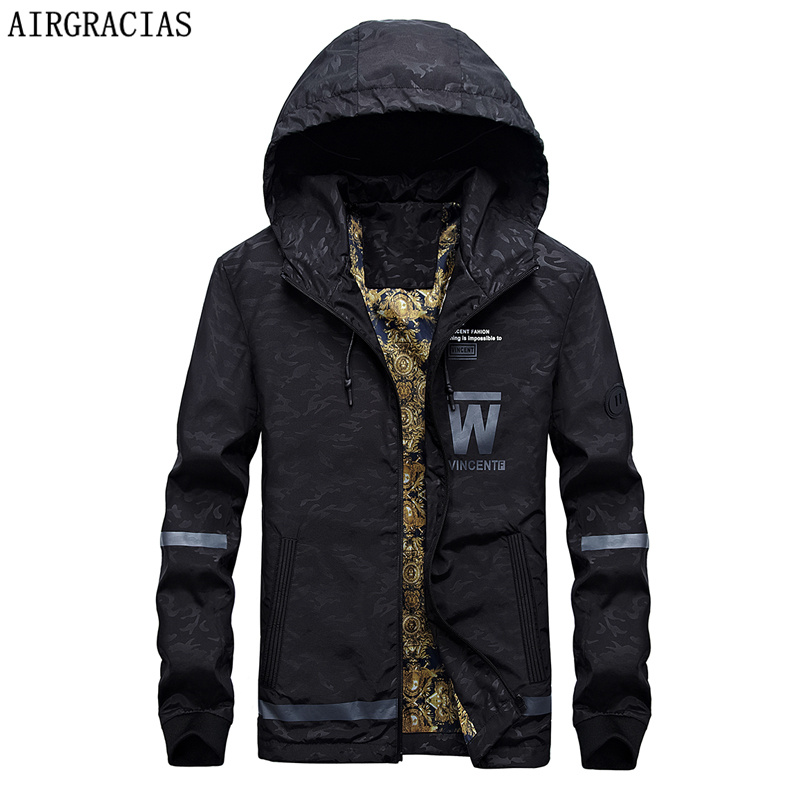 AIRGRACIAS Fashion Autumn Male Casual Jacket Mens ...