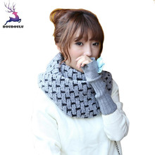 DOUDOULU 2017 HOT Lady Women Beautiful Lovers Knitted Scarf Shawl Wrap Winter Warm Collar unique Scarves Cachecol Bufanda Mujer