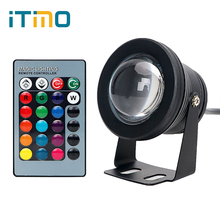 iTimo RGB Underwater Light Swimming Pool LED Spotlight Remote Control Aluminum 10W IP67 DC12V Waterproof Fish Tank Bulb Lamp(China)