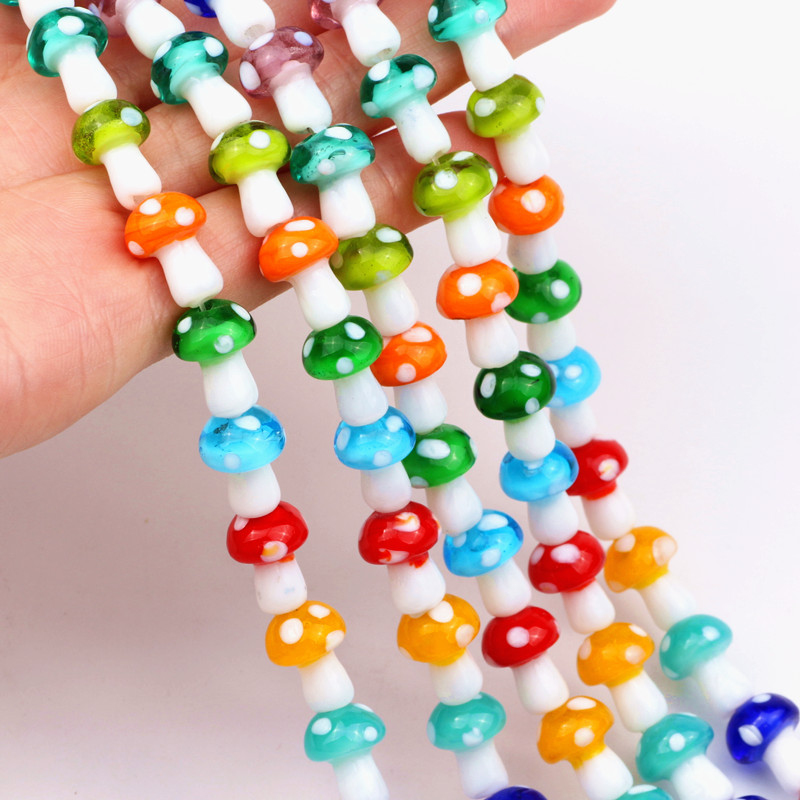 2 strands of millefiori glass beads 10mm green//white//red//blue//yellow coins 80pcs