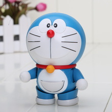 Anime Cartoon Doraemon Face Eye Changeable The Robot Spirits PVC Figure Toy 10CM wholesale(China)