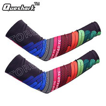 Rainbow Running Basketball Arm Sleeve Cuff Anti-UV Cycling Arm Warmers Riding Bike Bicycle Sleevelet Sport Elbow Pads Oversleeve(China)