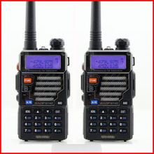 HOT 2 Pcs 5W 128ch Two Way Radio Walkie Talkie Baofeng Uv-5re For Hunting Dual Display FM VOX  Uhf Vhf Radio Station Cb Radio