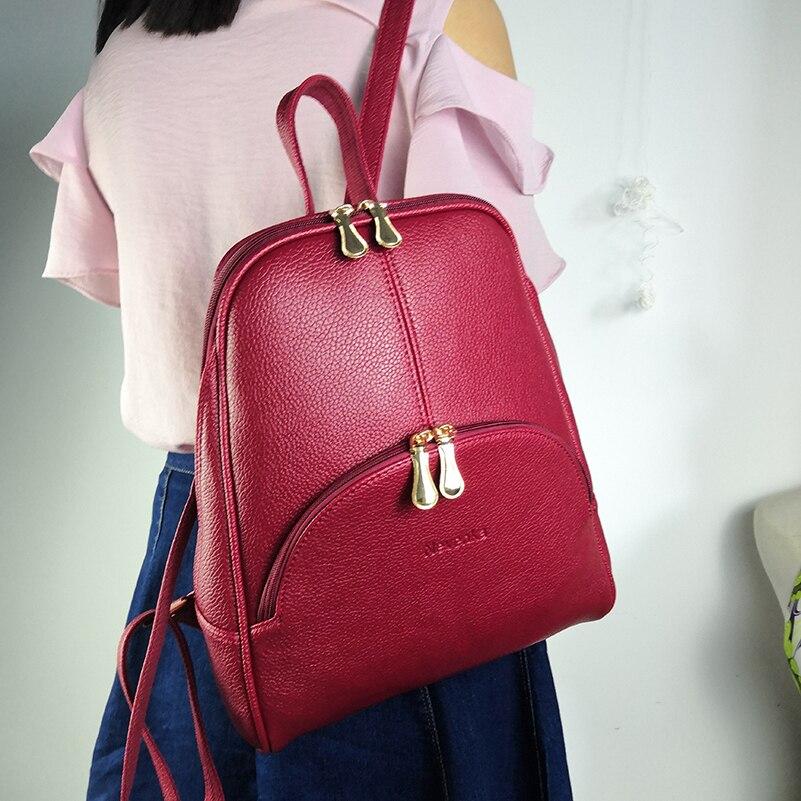 Nevenka Women Backpack Leather Backpacks Softback Bags Brand Name Bag Preppy Style Bag Casual Backpacks Teenagers Backpack Sac22