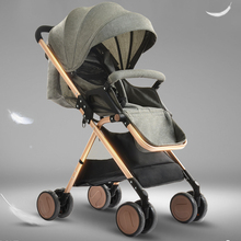 Fashion Baby Stroller High Landscape Light Weight Baby Car Folding Shockproof Baby Prams Kinderwagen Poussette for Newborns