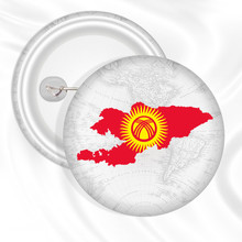 Kyrgyzstan Laos People's Democratic Latvia Lebanon Lesotho Liberia Map and Flag Button Badges(China)