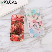 KALCAS Rose Flower Floral Thin Silicon Phone Bags For Iphone 7 7 Plus 6 6S 5 5S SE Cases Soft Cover Skin Shell