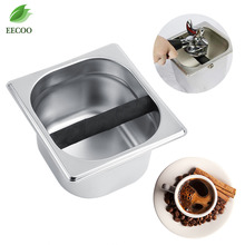 Stainless Steel Coffee Knock Box Container Coffee Grounds Container Coffee Bucket For Coffee Maker Tools Accessories