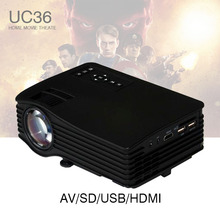LED LCD Mini Portable 1080P Projector Proyector UC36 with HDMI AV USB SD Home Theater Beamer kid toy gifts for PC DVD TV Phones(China)