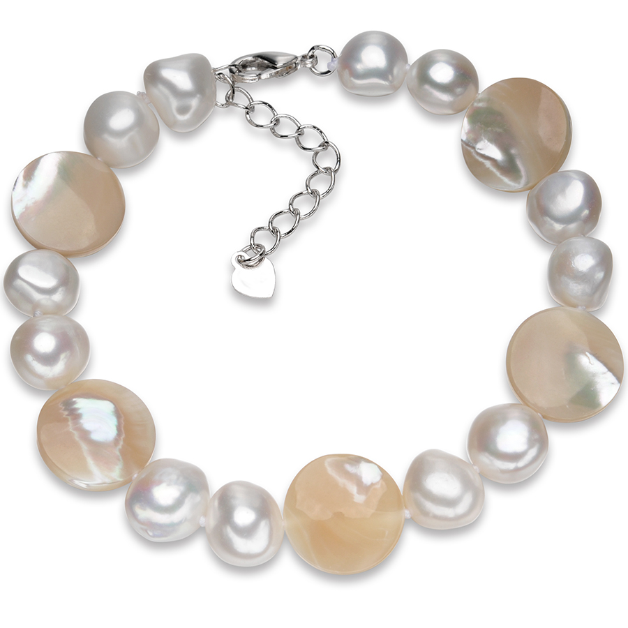 FEIGE Baroque style 10-11mm White Freshwater Pearl...