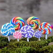 2PCS Resin Lollipop Garden Decoration Ornaments Mini Crafts Bonsai Micro Landscape Craft Fairy Garden Miniatures