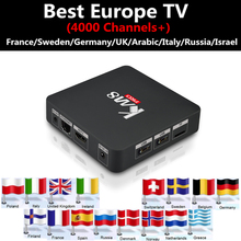 Android 6.0 tv box KM8PRO 2G 8G +Best Europe IPTV France UK Germany Netherlands Sweden Arabic Israel yes iptv free ship tv box