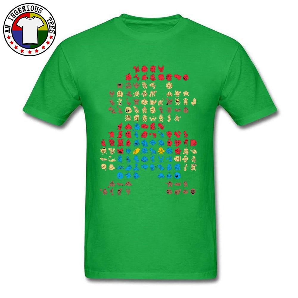 Men's T-Shirt Super-Mario0604 Classic Tops Shirts Cotton O Neck Short Sleeve Normal Tops Shirt Thanksgiving Day Super-Mario0604 green