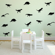 Children's room stickers cartoon dinosaurs wall stickers for kids rooms home decor living room bedroom decoration