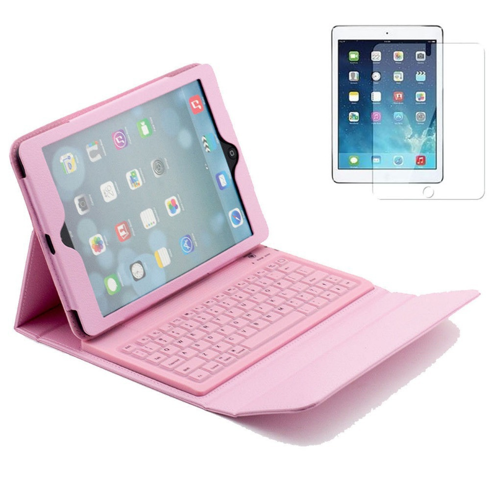 New 9.7  For ipad Air Bluetooth Keyboard Stand Leather Case Folding Stand Leather Case For Apple iPad 5 Free Shipping<br><br>Aliexpress