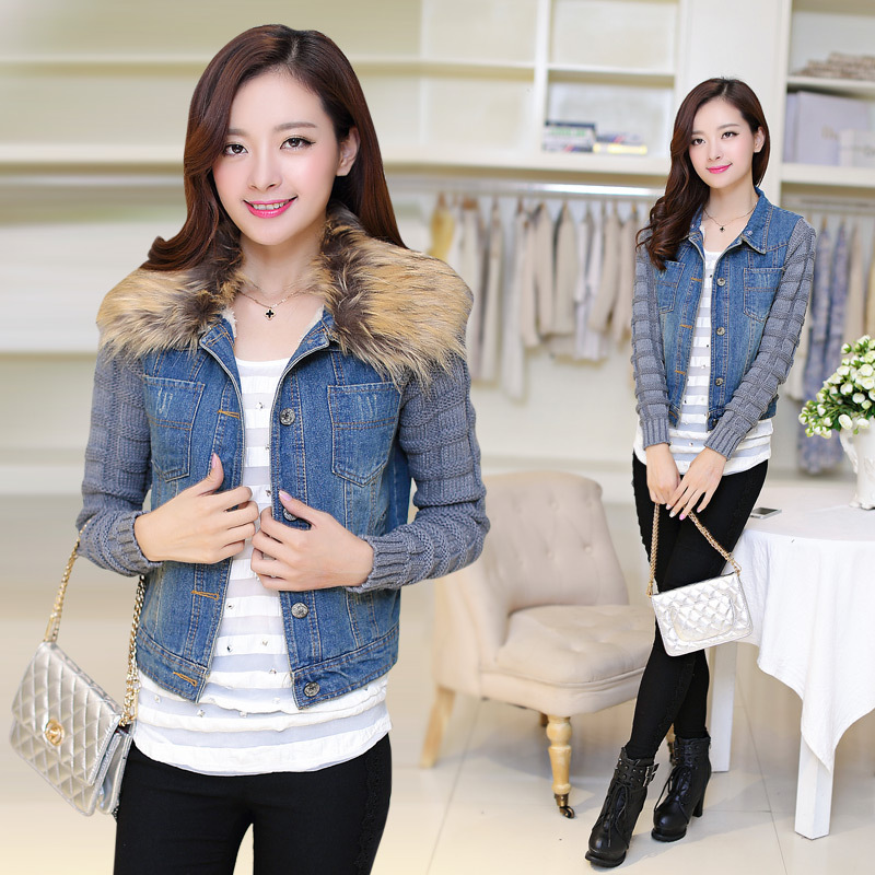 2017 Womens Winter Jackets And Coats New Cotton Solid No Slim Full Autumn Real Cowboy Coat Jacket Collar Sleeve Korean Large Одежда и ак�е��уары<br><br><br>Aliexpress