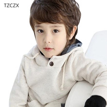 TZCZX 1pcs Hot Sale Autumn Children Hoodies Boys Long sleeve Pullovers Warm Kids coats boys tops clothing