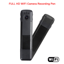 wireless IP/P2P Camera 1080P HD WIFI Mini Cam Video Voice Recorder With Night Vision Meeting Recording Pen Mobile Phone(China)