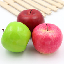 1PCS 8CM Artificial  Simulation Apple Furnishing Articles Garden Family Kitchen Decoration Wedding Fruits Decoration