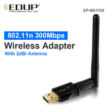 usb wi-fi adapter 300mbps high gain wifi antenna 2 dBi long distance wi-fi receiver usb lan enthernet netwotk card 802.11n