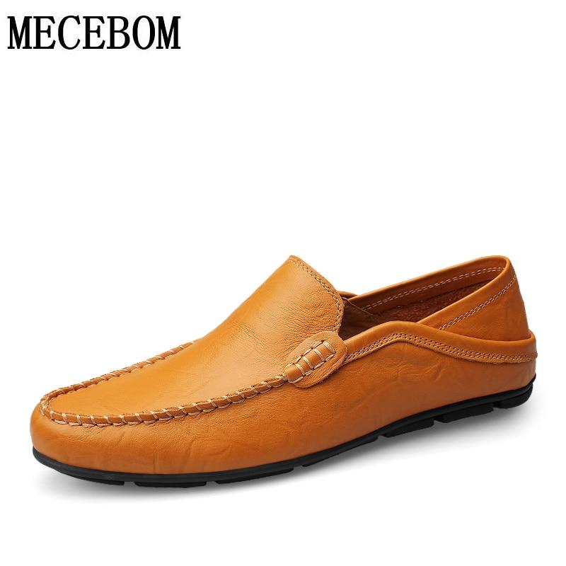 Men loafers hot sale plus size 47 split leather shoes breathable comfort slip-on men casual driving shoes footwears 20138m<br>