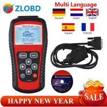 ZOLIZDA MaxiScan MS509 factory price OBDII/EOBD CAN Scanner tool ms509 Auto Code Reader WorkFor most car better than KW830 KW808(China)